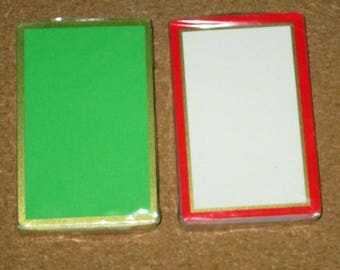 Vintage COLOR BLOCK Retro Deck Playing Cards Green Red White Unopened