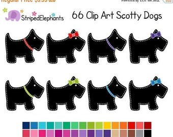 40% OFF SALE Scotty Dog Clipart - Digital Clip Art - Instant Download - Commercial Use