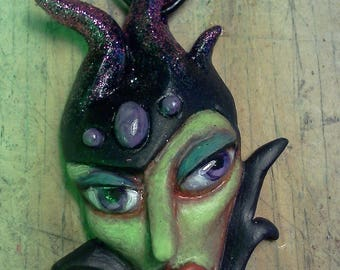 ORIGINAL OOAK Enchantress Maleficent Pendant Necklace by Tom Taggart
