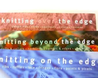 Knitting pattern 3 books, knitting on the edge, knitting over the edge, knitting beyond the edge, knitting patterns,