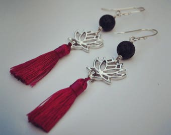 Lotus Tassel Earrings ~ Essential Oil Diffuser