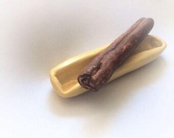 Cinnamon stick / fondant / gum paste / flexible silicone push mold / craft/ dessert / soap mold/ resin/jewelry and more...