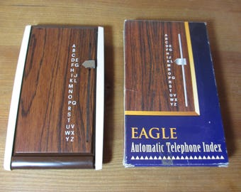 Vintage Eagle Automatic Telephone Number Index, Retro, Mid Century