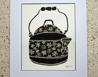 Tea Pot II - Original Illustration