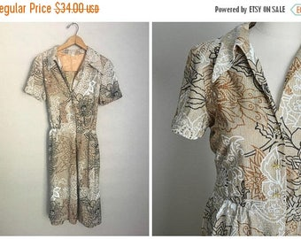 Summer SALE - 20% off - vintage 60s mid century modern metallic thread party shimmer evening hostess dress -- womens small medium-- 36-28-fr