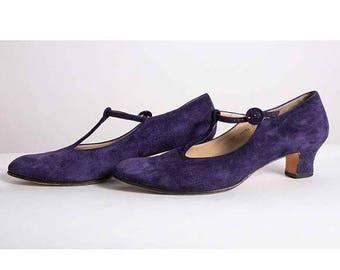 T strap pumps shoes | Etsy