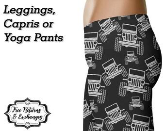 Plaid Offroad Leggings, Capris or Yoga Pants • Grey Plaid • Anarchy307 Anarchy 307
