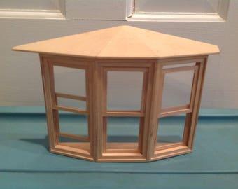 Dollhouse  miniature Bay window