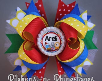 Personalized Back to School Bow, Back to School Bow, School Hair Bow, Back to School Boutique Hair Bow, Personalized Bow, School Bow