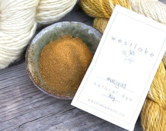 Marigold Natural Dye, powdered marigold flowers for dyeing rich yellows