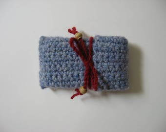 wool flip cell phone case crocheted
