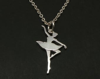 Silver Ballet Dance Necklace Pendant - Ballet Dance Jewelry, Gift for Ballet Dancer, teacher, lovers
