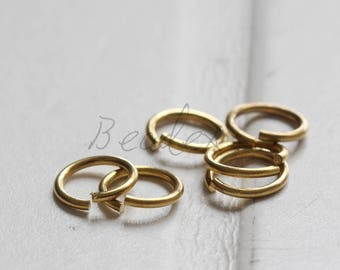 200 Pices / Jump ring / Raw Brass / 8x1mm (3711C)