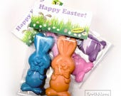Easter Bunny set of 2 bunny crayons with tag by Scribblers Crayons