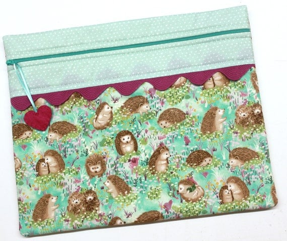Hello Hedgehog Cross Stitch Embroidery Project Bag