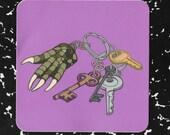 Gator Paw Keychain Vinyl Decal Sticker//  Back to School!  // Laptop Sticker // Teacher Gift