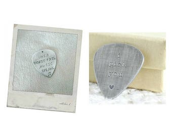Sterling Silver Guitar Pick, Personalized Guitar Pick, Custom Guitar Pick
