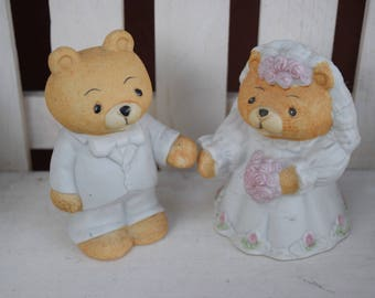 Vintage Wedding Bears Cake Topper Teddy Bear Toppers