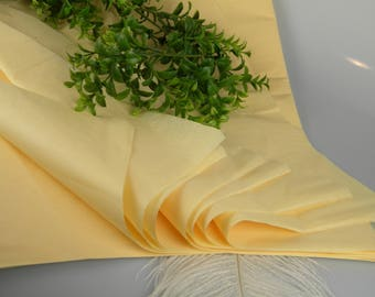 Tissue Paper Sheets 48 Buttery Yellow | Solid Color Sheets | Gift Wrap Tissue | Luxury Packaging | Craft Tissue | Favor bag Tissue