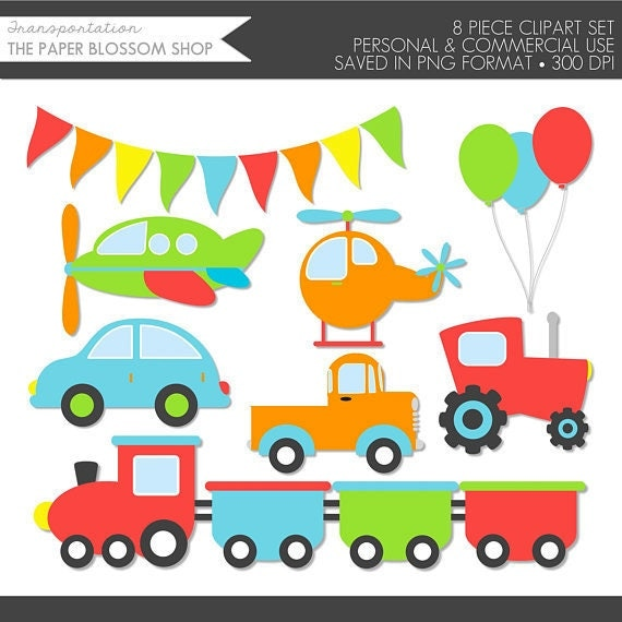Transportation Clipart,Transportation Clip Art,Car Truck Clip Art