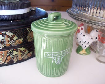 Tennessee trash container, ceramic cup, souvenir tumbler, Opryland, Nashville