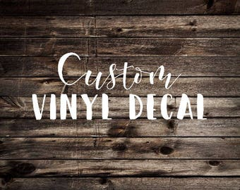 Custom Vinyl Decal Etsy - Custom logo vinyl decals