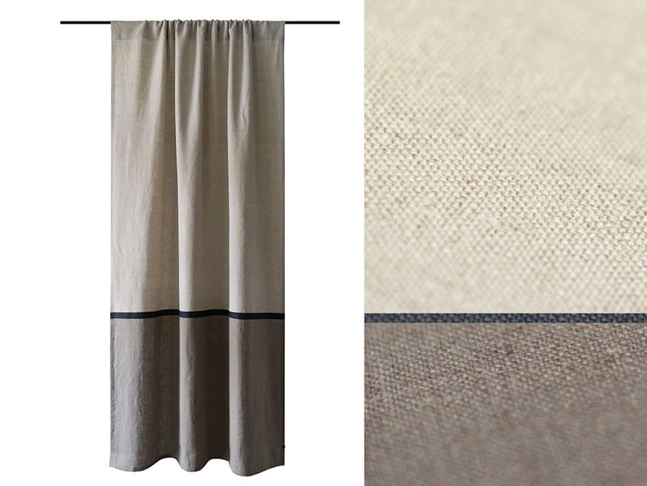 Linen Curtains Custom Color Color Block Curtain Panel Blackout