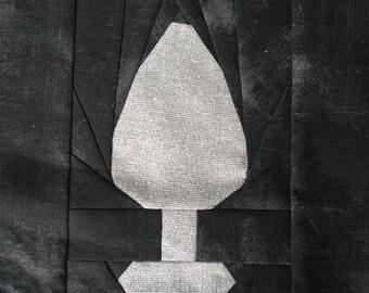 """Butt Plug - 8"""" paper pieced block"""