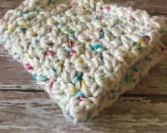 crochet cotton wash cloth, baby boy baby shower gift, baby gift idea under 5, knit wash cloth, cotton wash cloth, baby wsh cloth, chic gift