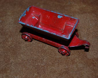 Antique Tootsie Toy Die Cast Metal Tipping Car RARE antique die cast Early Tootsie Toy Trailer Tipping Car