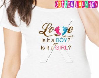 Gender reveal Party teeshirt football maternity or non-maternity tee shirt Boy vs Girl