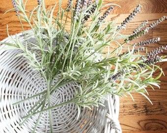 Faux Lavender Stem // Artificial Lavender