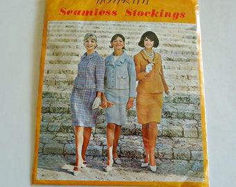 Vintage Seamless Stockings Non Run Beigt Hosiery Size 8 1/2