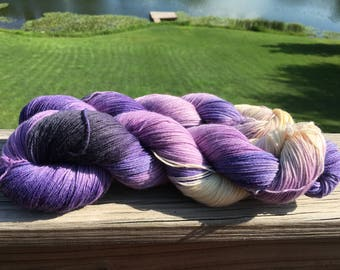 Violet Crawley, Inspired by Downton Abbey tv show, Knit and Fiber Creation Tough Love Sock Yarn