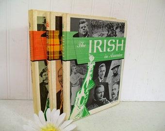 The Irish in America; The Scots & Scots-Irish in America; The Hungarians in America Set of 3 In America Series Vintage School Library Books