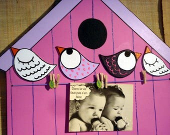 "Picture frames or memory baby and child ""birdhouse"" girl"
