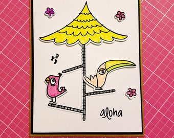 Happy tweetday, birthday card, fun birds birthday card, for anyone, cute birthday card,