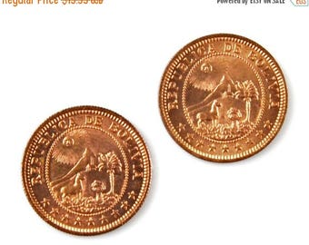 Limited Time Offer Bolivia Coin Cufflinks - Men's Jewelry - Handmade - Gift Box Included