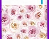 "Pink ROSES 6"" x 9"" Self Adhesive Designer Poly 6x9 Envelope Mailers"