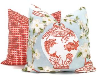 Chinoiserie Ginger Jar Decorative Pillow Cover 18x18, 20x20, 22x22, 24x24, 26x26 or lumbar pillow, throw pillow, toss pillow