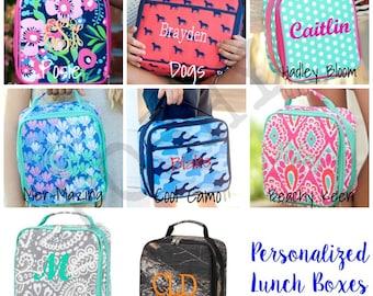 Monogrammed Kids Lunch box, Lunch box, monogram lunch box, kids lunch box, kids lunch bag