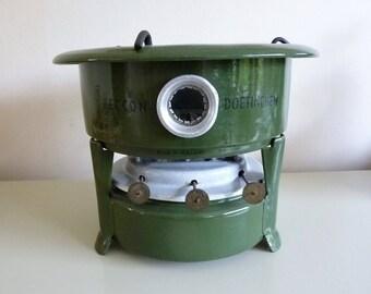 Vintage enamel petroleum stove vintage Dutch stove original Beccon vintage stove vintage enamel stove