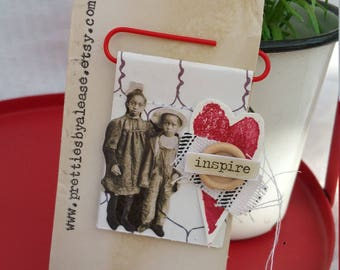 Vintage styled journal clip