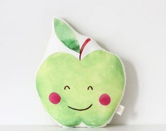 Apple cushion Apple Pillow Kawaii Apple Cushion Fruit Plush Tropical Throw Pillow