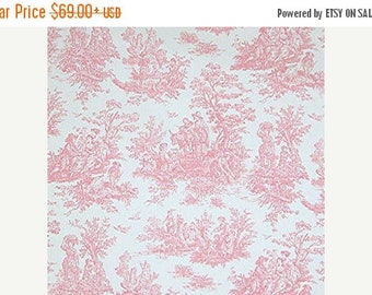 """FALL is COMING SALE Toile Window Treatments Curtain Panels Jamestown Pink Toile Curtain Panels Pair  63"""",84"""",90"""",96"""",108"""""""