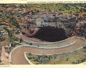 Carlsbad Caverns, New Mexico, Entrance, National Park - Vintage Postcard - Postcard - Unused (A2)