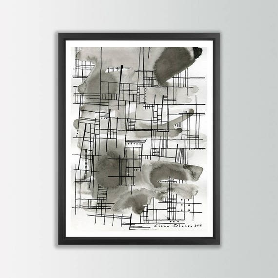 Architectural print black and white print modern art print Printing architectural drawings