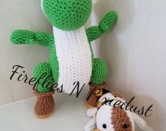 Yoshi and Poochy- crochet