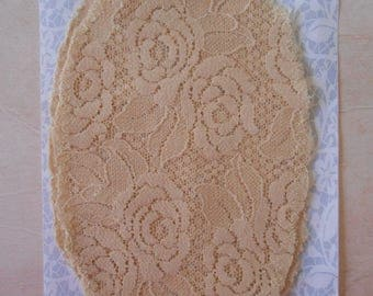Patches Strech Lace Beige Set of 2