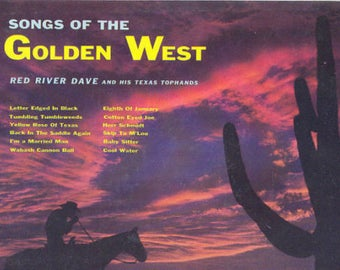 Red River Dave LP Songs of the Golden West